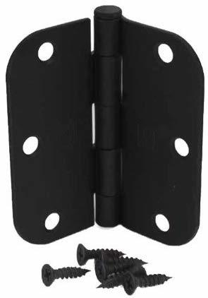 Hager Matte Black Door Hinges 50 Pack
