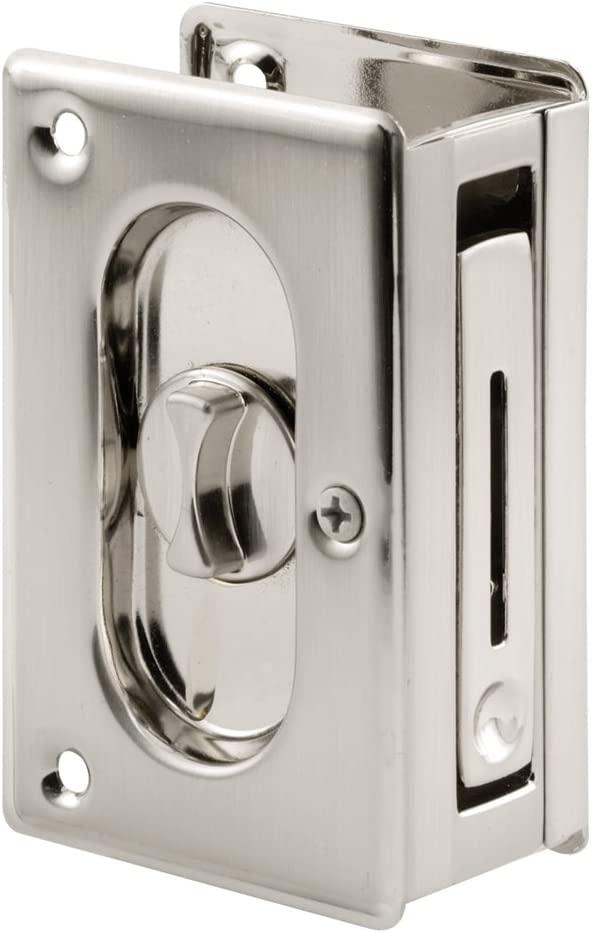 PRIME-LINE N 7367 Pocket Door Privacy Lock with Pull