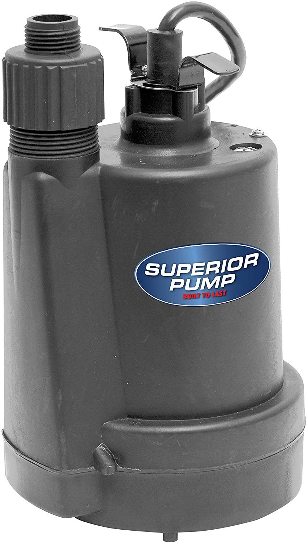 Superior Pump 91250 1/4 HP Thermoplastic Utility Pump